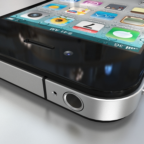 apple iphone 4g 3d model 3ds max fbx c4d ma mb obj 112491