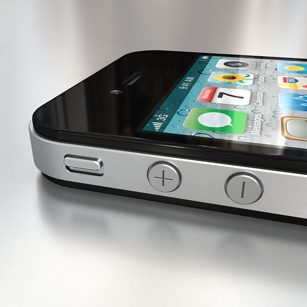 apple iphone 4g 3d model 3ds max fbx c4d ma mb obj 112492