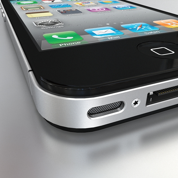 apple iphone 4g 3d model 3ds max fbx c4d ma mb obj 112493