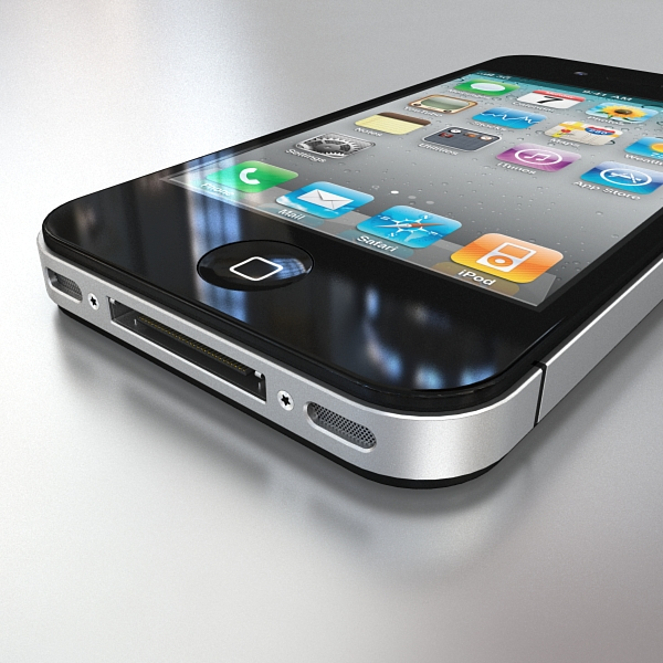 apple iphone 4g 3d model 3ds max fbx c4d ma mb obj 112495