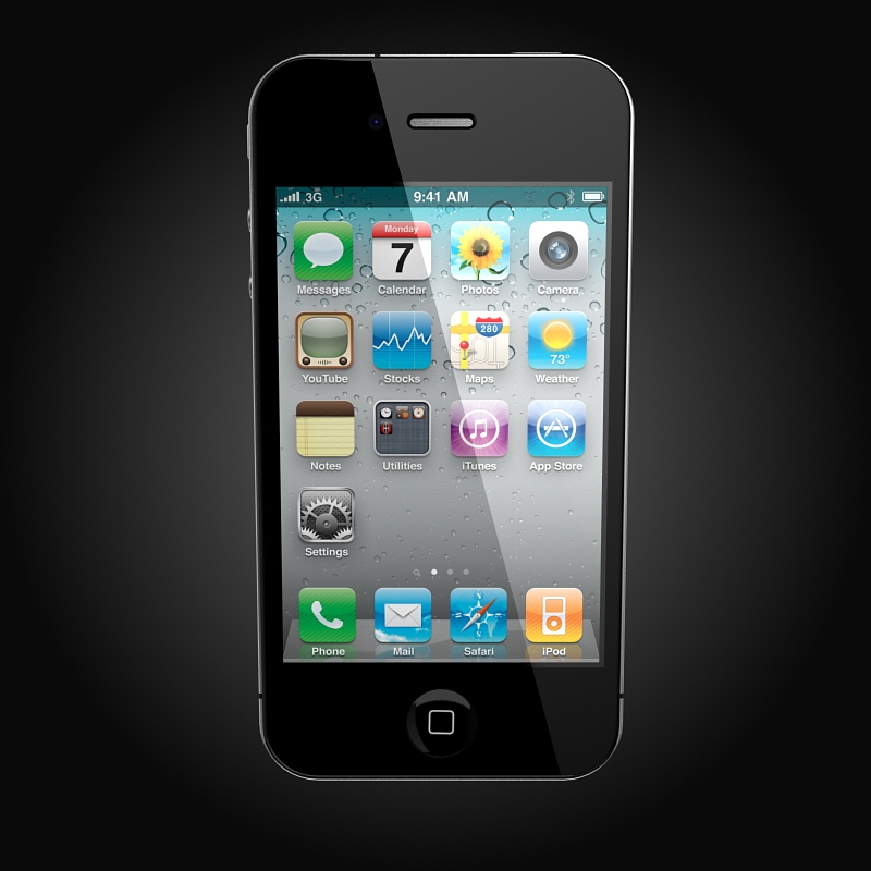 apple iphone 4g 3d model 3ds max fbx c4d ma mb obj 112496
