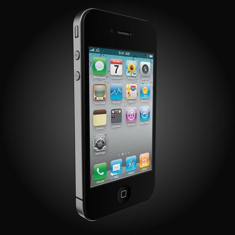 apple iphone 4g 3d model 3ds max fbx c4d ma mb obj 112497