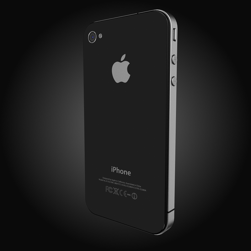 apple iphone 4g 3d model 3ds max fbx c4d ma mb obj 112499