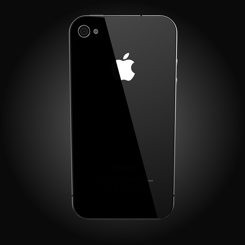 apple iphone 4g 3d model 3ds max fbx c4d ma mb obj 112500