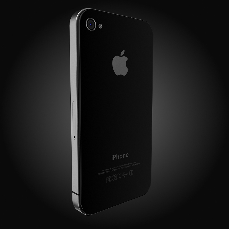 apple iphone 4g 3d model 3ds max fbx c4d ma mb obj 112501
