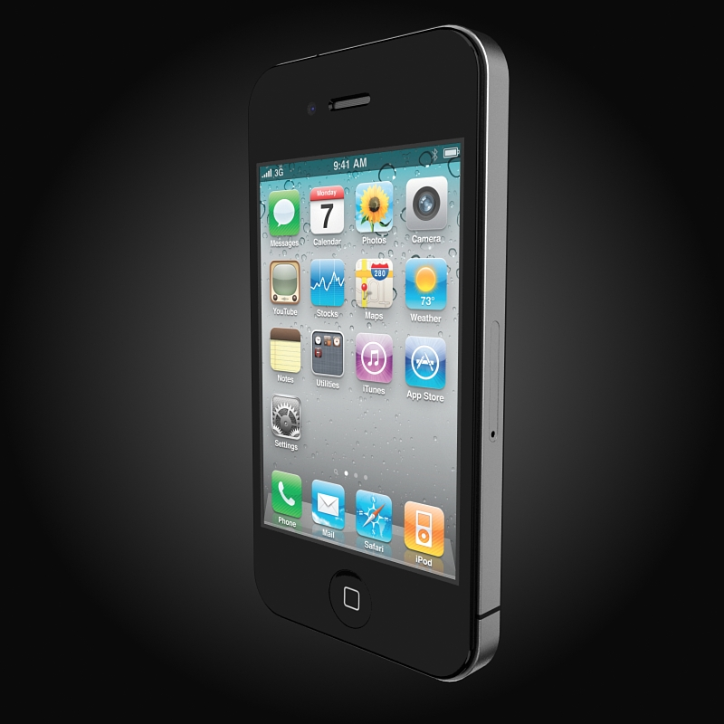 apple iphone 4g 3d model 3ds max fbx c4d ma mb obj 112503