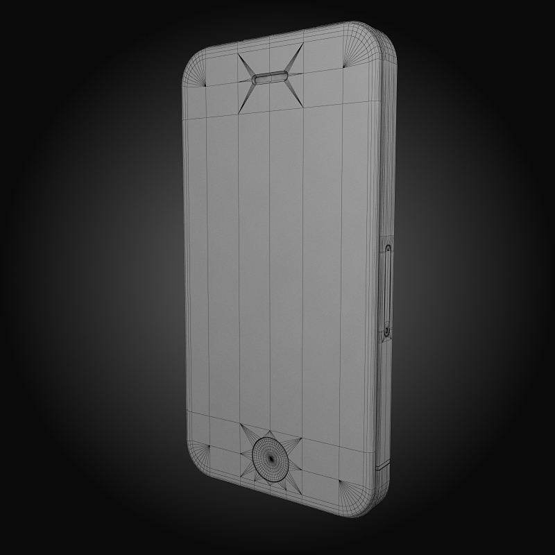 apple iphone 4g 3d model 3ds max fbx c4d ma mb obj 112504