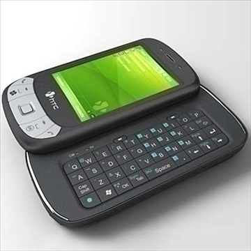 htc p4350 communicator 3d model 3ds max fbx obj 108848