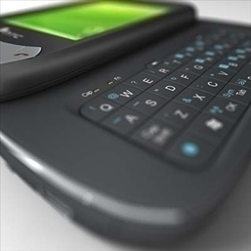 htc p4350 herald communicator 3d model 3ds max fbx obj 108855