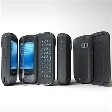 htc p4350 herald communicator 3d model 3ds max fbx obj 108856