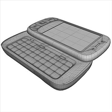 htc p4350 herald communicator 3d model 3ds max fbx obj 108857