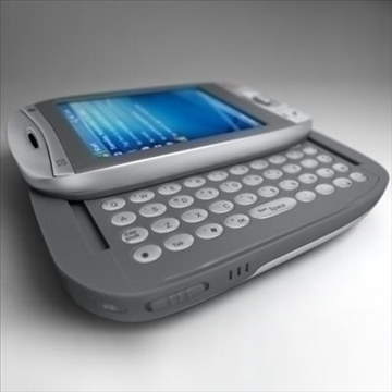 htc wizard communicator (smartphone) 3d model 3ds max fbx obj 108839