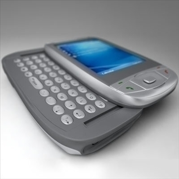 htc wizard communicator (smartphone) 3d model 3ds max fbx obj 108844