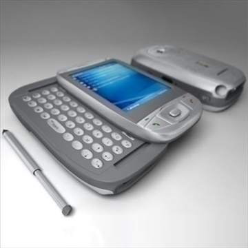 htc wizard communicator (smartphone) 3d model 3ds max fbx obj 108845