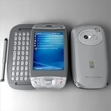 htc wizard communicator (smartphone) 3d model 3ds max fbx obj 108846