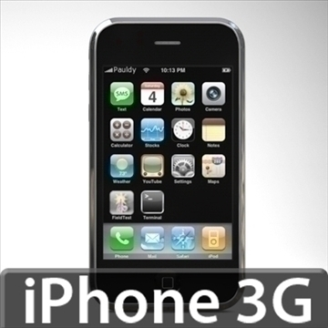 iphone3g 3d model 3ds dxf fbx c4d x obj 96524