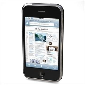 iphone3g 3d model 3ds dxf fbx c4d x obj 96525