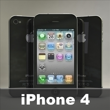 iphone4 3d model 3ds dxf fbx c4d x  obj 106525