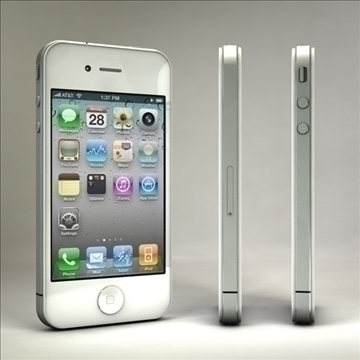 iphone4 3d model 3ds dxf fbx c4d x  obj 106529