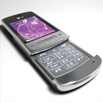 lg ke970 – shine black label series mobile phone 3d model 3ds max fbx obj 81271