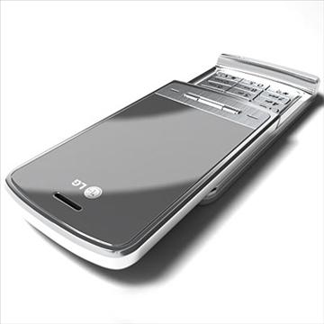 lg ke970 – shine black label series mobile phone 3d model 3ds max fbx obj 81272