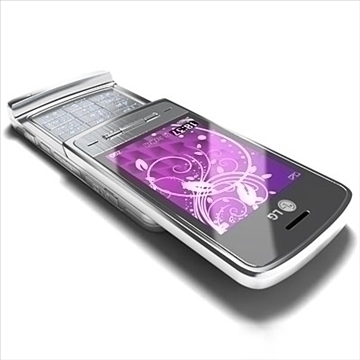 lg ke970 – shine black label series mobile phone 3d model 3ds max fbx obj 81273