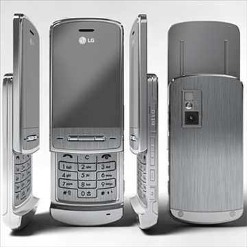 lg ke970 – shine black label series mobile phone 3d model 3ds max fbx obj 81277