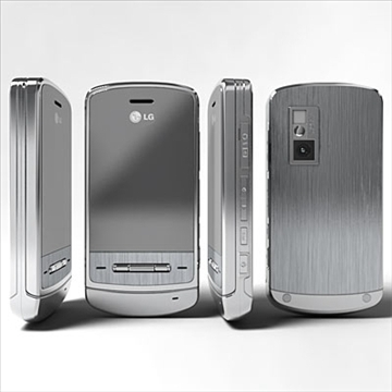 lg ke970 – shine black label series mobile phone 3d model 3ds max fbx obj 81278