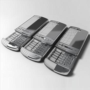 lg ke970 – shine black label series mobile phone 3d model 3ds max fbx obj 81279