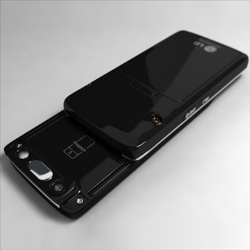 LG KG800 Chocolate Black Label series 3D Model