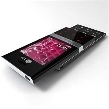 lg kv6000 chokolate ii – series mobile phone 3d model 3ds max fbx obj 81261
