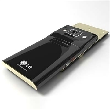 lg kv6000 chokolate ii – series mobile phone 3d model 3ds max fbx obj 81264