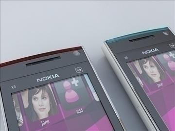 nokia x6 3d model 3ds max 111783