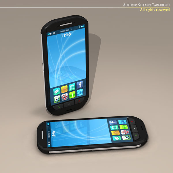 smartphone 3d model 3ds dxf c4d obj 112632