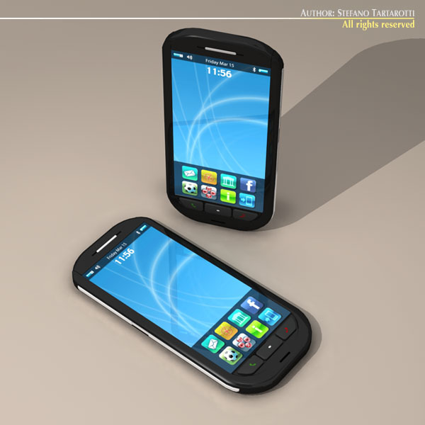 smartphone 3d model 3ds dxf c4d obj 112633