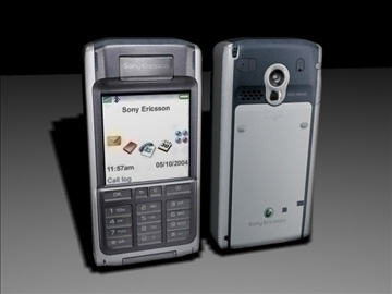 sony ericsson cell phone low poly 3d model max 84138