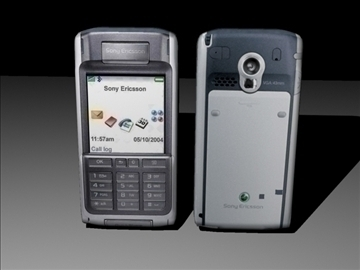 sony ericsson cell phone low poly 3d model max 84139