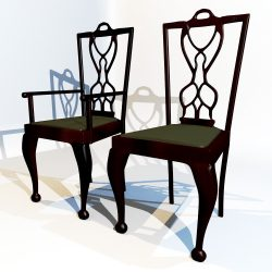 3D Model Dining Chair set ( 134.43KB jpg by forestdino )