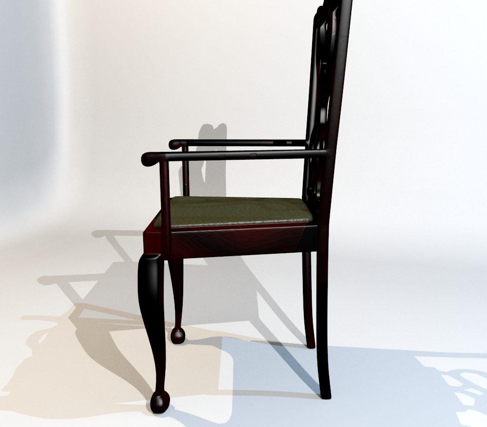 3D Model Dining Chair set ( 97.16KB jpg by forestdino )