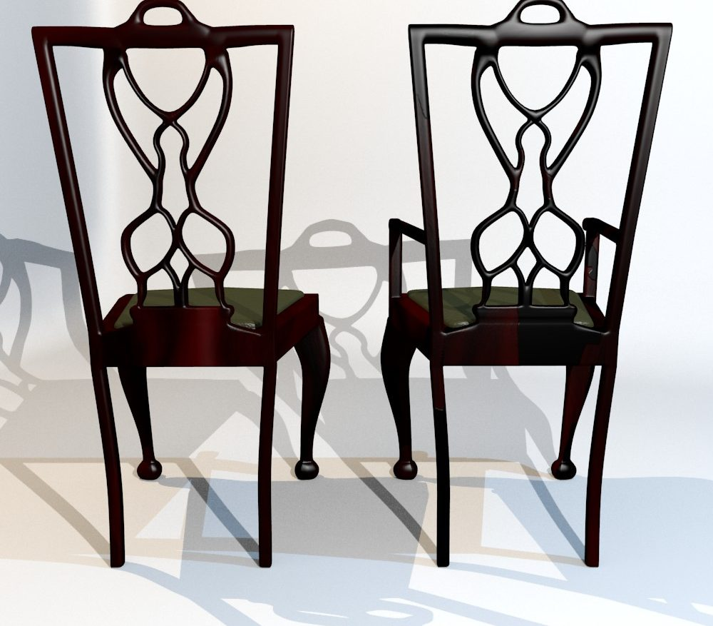 3D Model Dining Chair set ( 154.22KB jpg by forestdino )