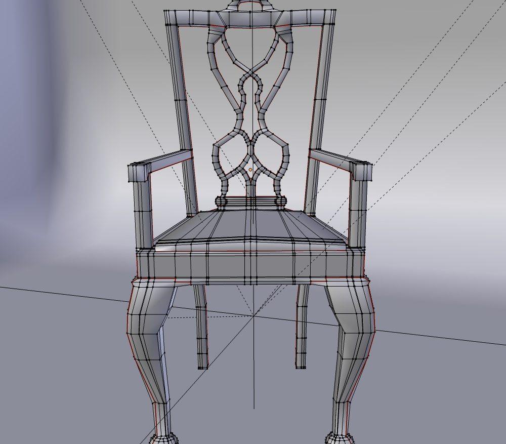 3D Model Dining Chair set ( 134.02KB jpg by forestdino )