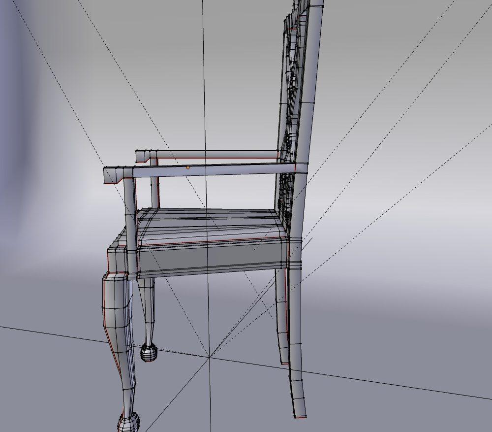 3D Model Dining Chair set ( 107.04KB jpg by forestdino )