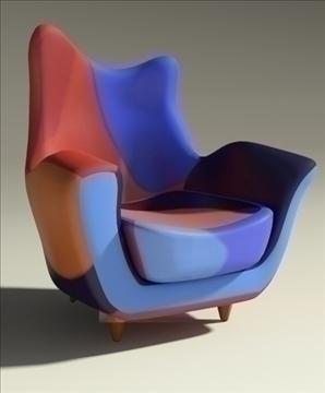 alessandra armchair 3d model max obj 90869