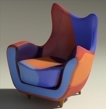 alessandra armchair 3d model max obj 90872