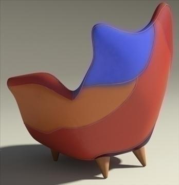 alessandra armchair 3d model max obj 90874