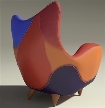 alessandra armchair 3d model max obj 90876