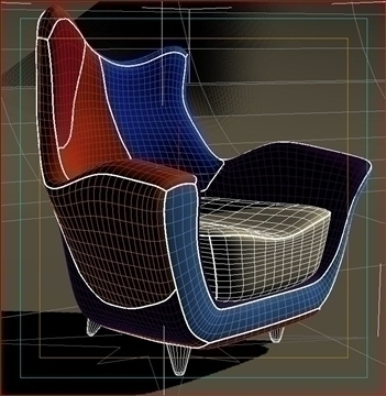 alessandra armchair 3d model max obj 90877