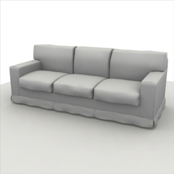 america_sofa_three_pillow 3d mudel max 80197