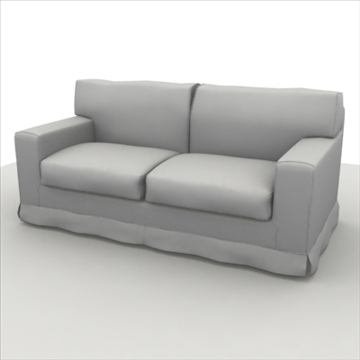 america_sofa_two_pillow 3d max max 80190