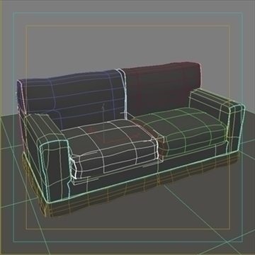 america_sofa_two_pillow 3d model max 80195